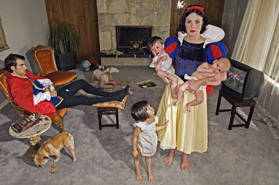 snow white wedding with kids
