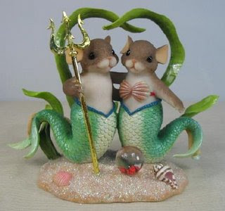 Mermice wedding cake topper
