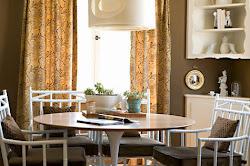 dining room karyn millet brown fantasy chairs sneak peek round ruggiero joe tables rooms living inspiration contrast against deep way