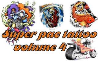 novo 1 Download Super Pac com mais de 10.000 tattoos vol.4