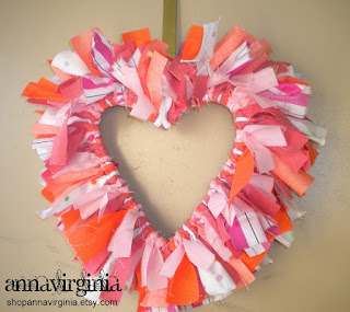 AnnaVirginia Fashion: Valentine's Heart Wreath