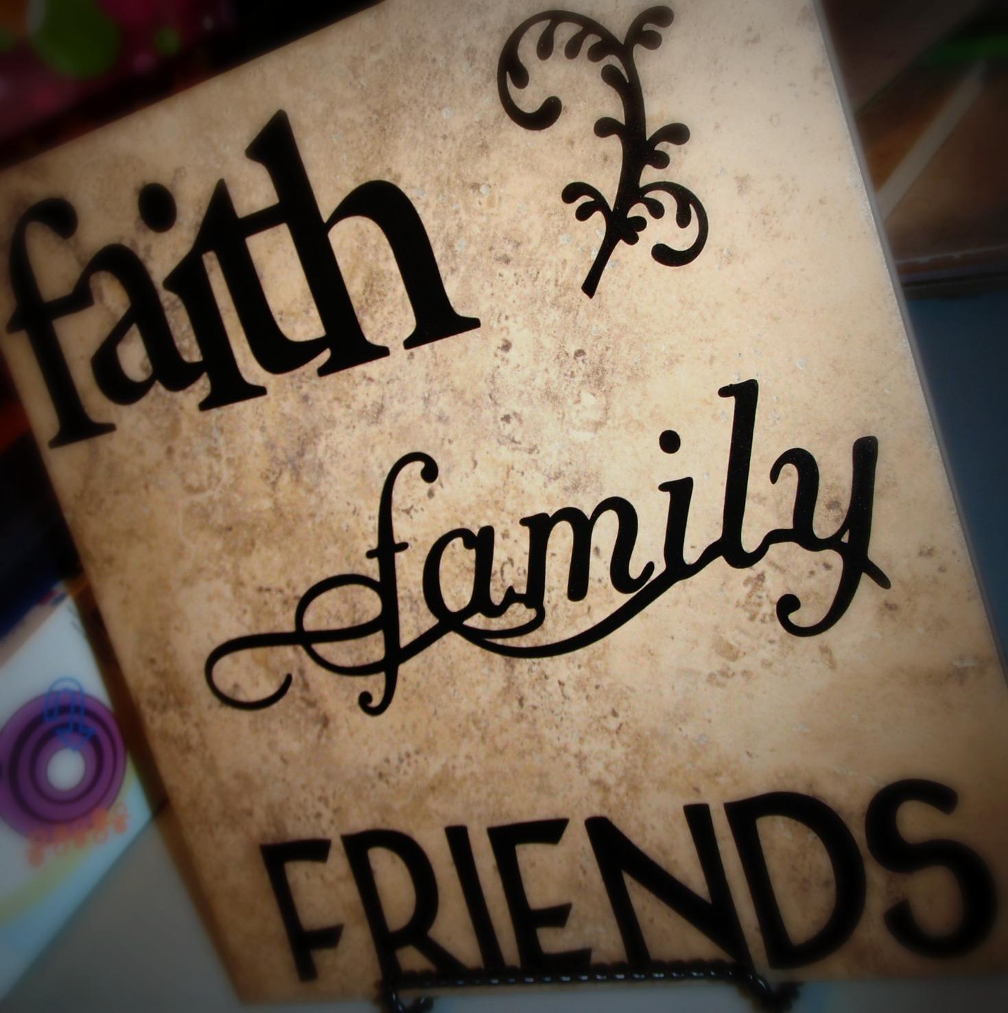 Faith Family Friends Decorative Tile 1st Cricut Party Part 2