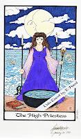 High Priestess Whispering Tarot