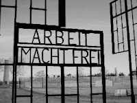 arbeit macht frei - work will make you free - sign at sachsenhausen