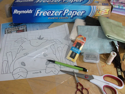 Hand applique how to step by step freezer paper applique pictures