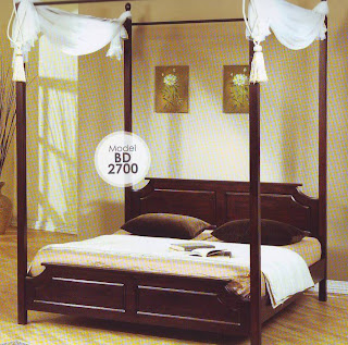 World Of Furniture And Interior Design Koleksi Katil Bertiang Double Posted Bed
