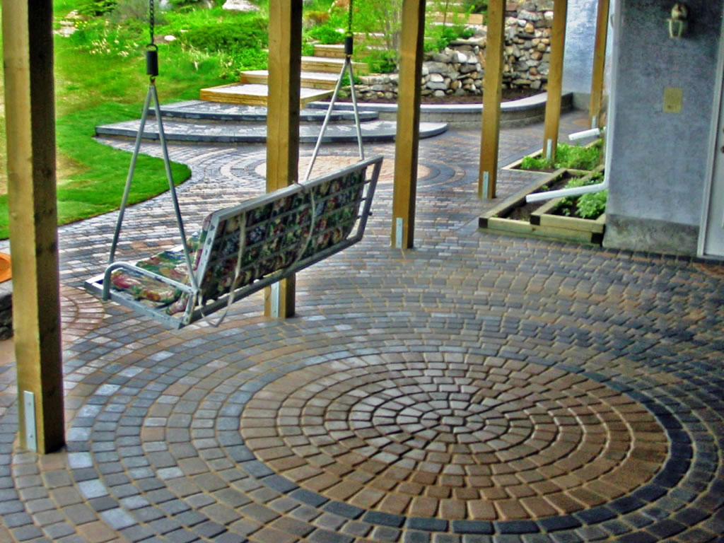 Patio decor steps for Covered porch flooring options