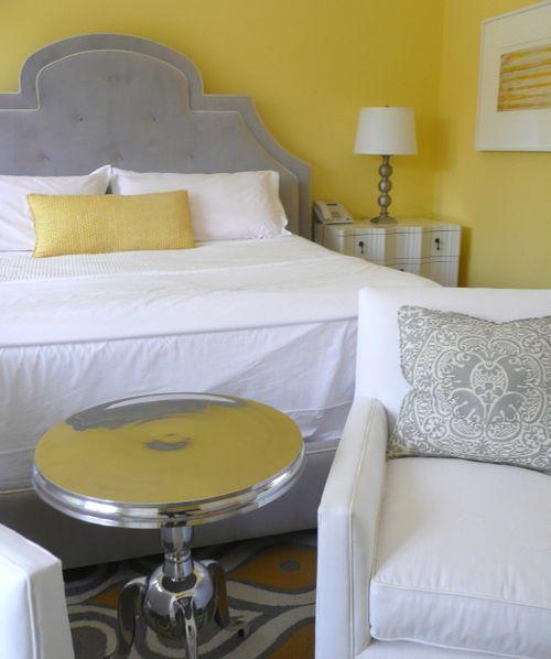 tizzi lish: yellow and gray bedroom inspiration