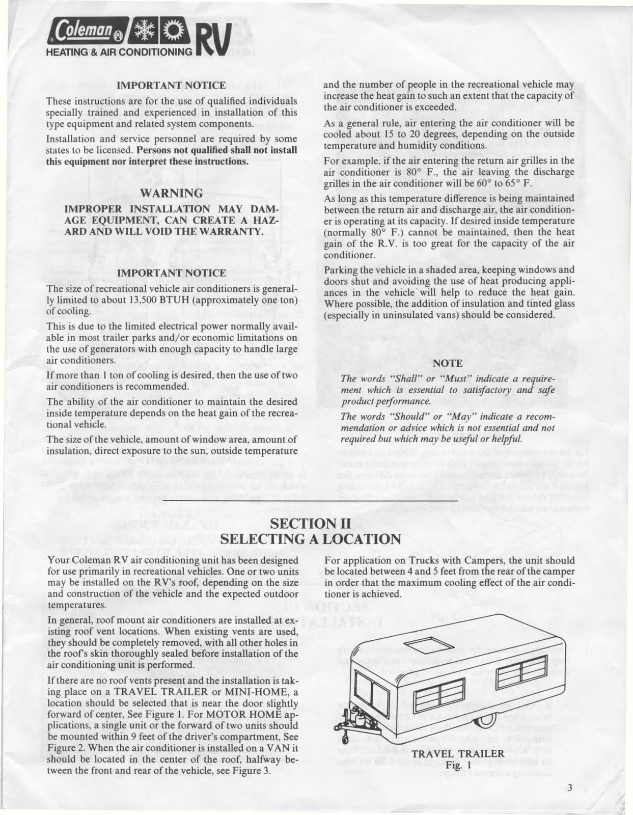 Coleman ac Service manual