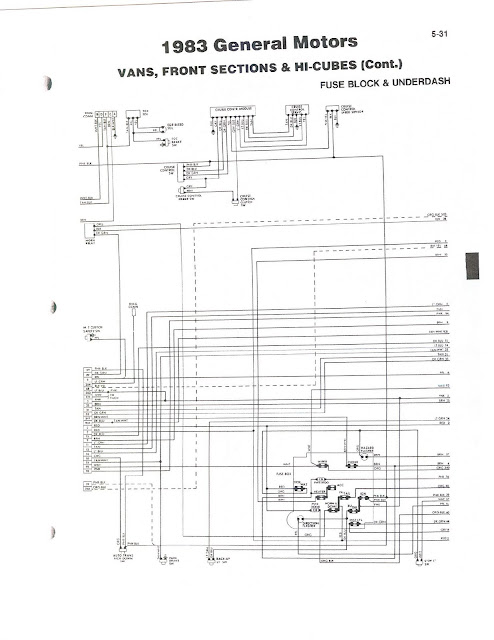 wireing diagram 83 gm van front section & hi-cube