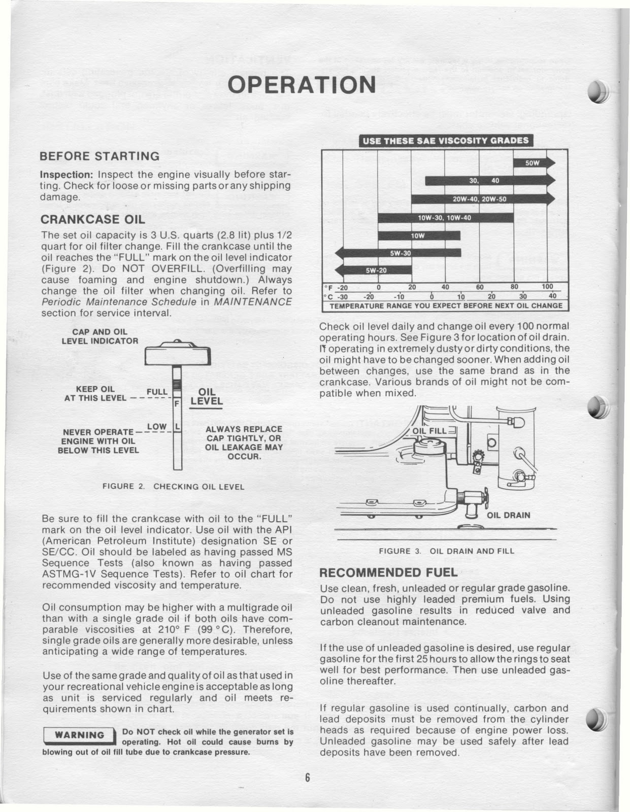 1983 Fleetwood Pace Arrow Owners Manuals: ONAN 4 0 KW BFA