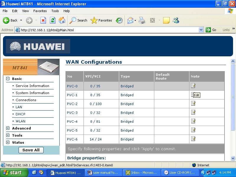 Huawei Smartax Mt882 manual