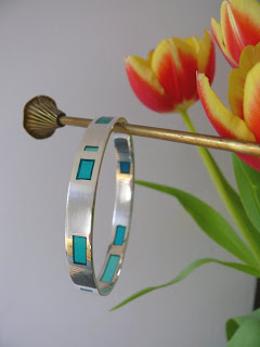 Resin window bangle (turquoise)