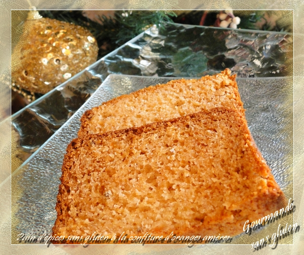Pain d'épices sans gluten à la confiture d'oranges amères