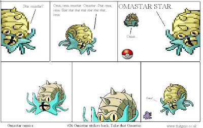 Does any browser even do alt text anymore? If you are reading this then I can reveal that we didn't in fact get another omastar in. We shot Omastar from two different angles and then used magicky pokery to super impose them together in panel 3
