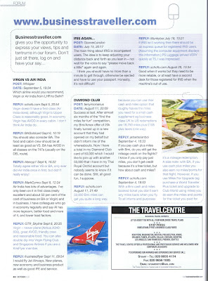 Schofs in Business Traveller. Again!