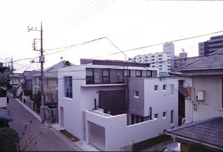 White Black Blue Japanese Residence