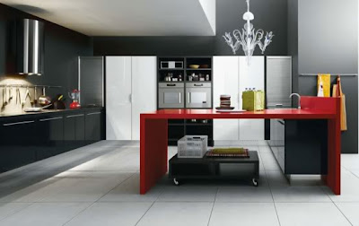 And Living But Still Didn T Know What Kind Of Kitchen Color Combination To Ly This Inspiring Set In Black White Red