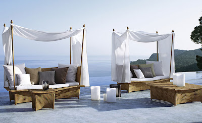 This Exotic Moroccan Inspired Outdoor Daybed Furniture Idea Designed By Richard Frinier For Dedon Reminiscent Of A Flying Carpet The Posts Removable Side