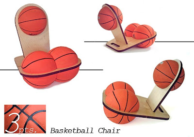 3pts Basketball Chair by Tal Shwartz