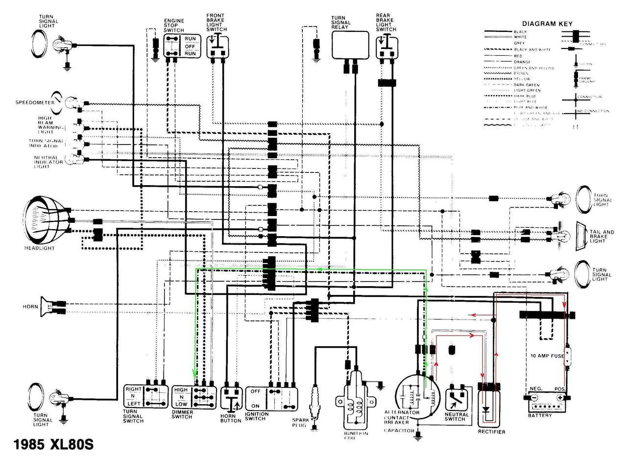 honda tl125 wiring diagram