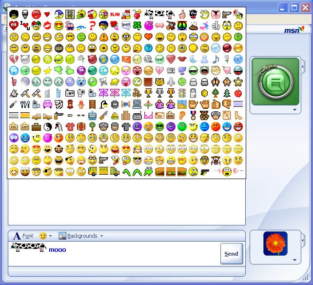 Not msn messenger emoticons recommend you