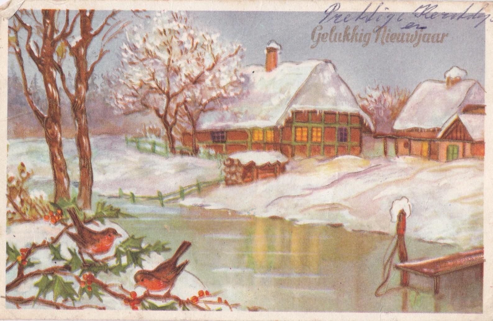 Nostalgische Kerstkaarten uit vervlogen tijden