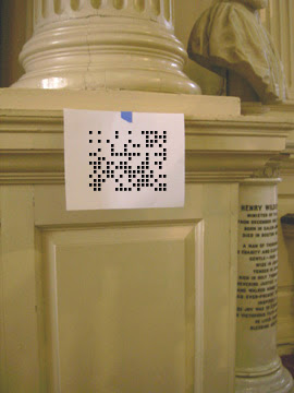 DiMO Project example: Your visit to King's Chapel enriched by a more content available through mobile codes