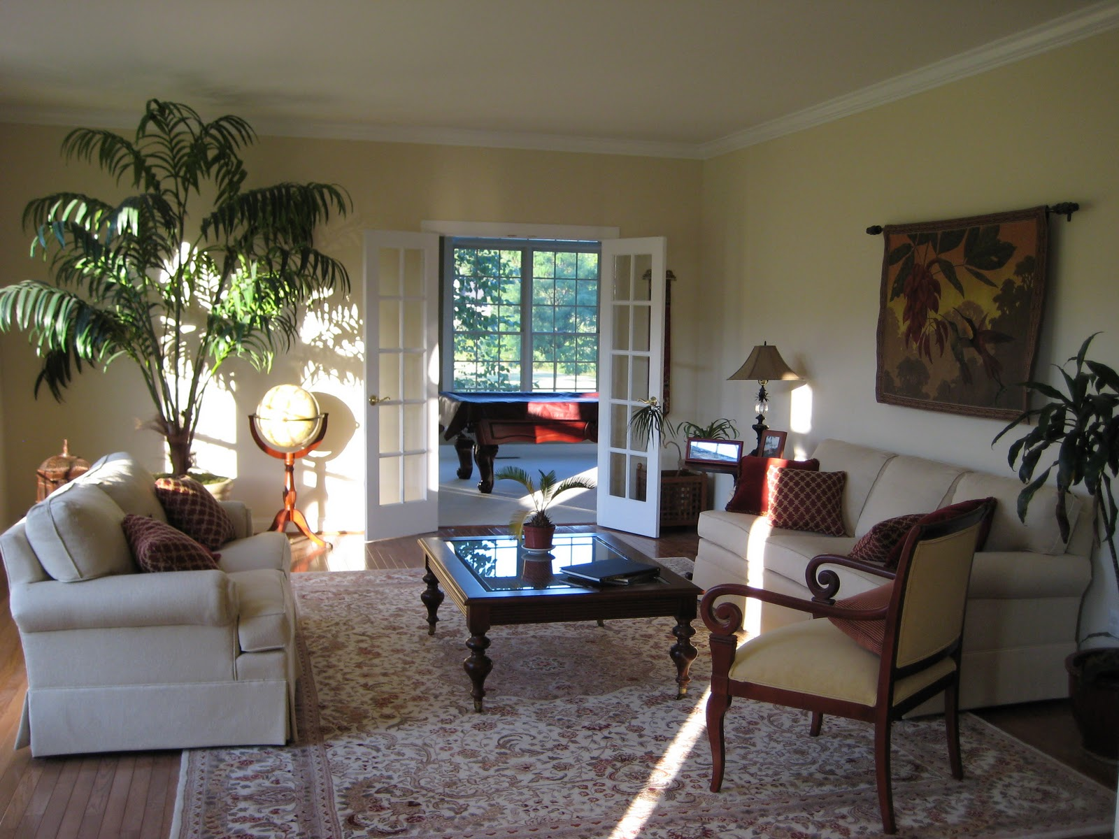 Here Is My Caribbean  Inspired Living Room. I Would Still Love To Put  Plantation Shutters On The Windows And Add A Couple Things Here And There  But It Is ...