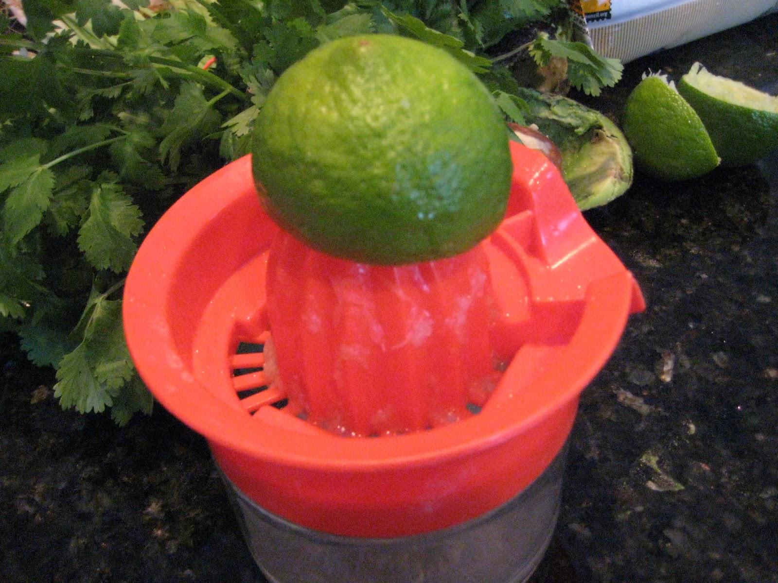 Limes and cilantro