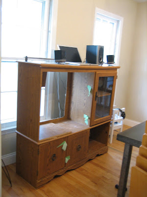 Before - the old entertainment center