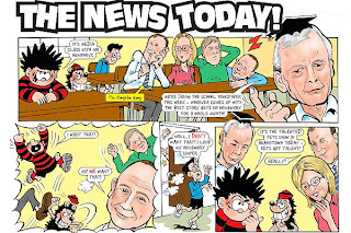 Special Dennis the Menace cartoon: Humphrys and the Naughtie gang