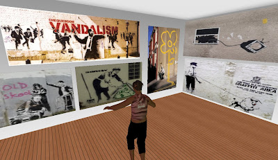 Banksy's Ghetto in Second Life - TV