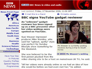 Susi Weaser gadget reviewer signed by BBC
