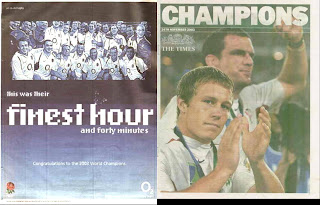 O2 Times newspaper Rugby 2003