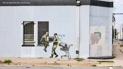 Banksy New Orleans looters