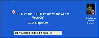 IE6 Must Die Twibbon