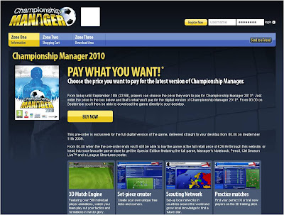 Championship Manager 2010 Pay What You Want