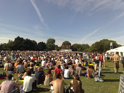 Regents Park Cricket in The Park crowd view from the back