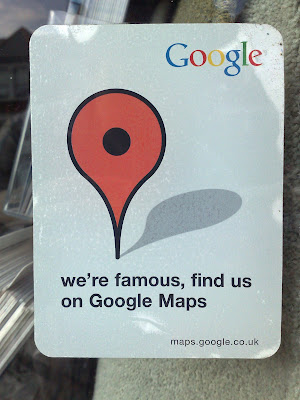 Google Maps shop window sticker