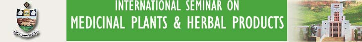 INTERNATIONAL SEMINAR ON MEDICINAL PLANTS & HERBAL PRODUCTS