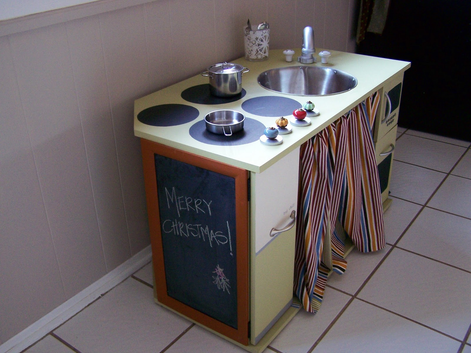 Children Play Kitchen Butcher Block Cart House Of Ficek Diy
