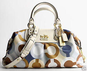 Coach Op Art Graphic Large Sabrina Purse Bag 12966 Nwt 650