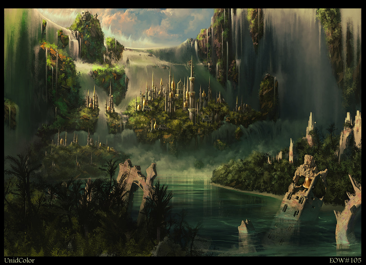 Fantasy City Wallpaper Hd: Inerorer: The Legend Of Atlantis