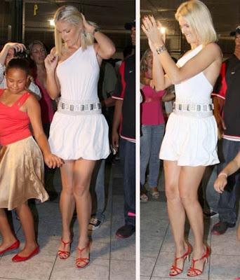 2a4fc638ce54a A apresentadora Ana Hickmann mostra que loira também sabe sambar. A modelo  participou de ensaio da escola de samba Tom Maior, de São Paulo, ...