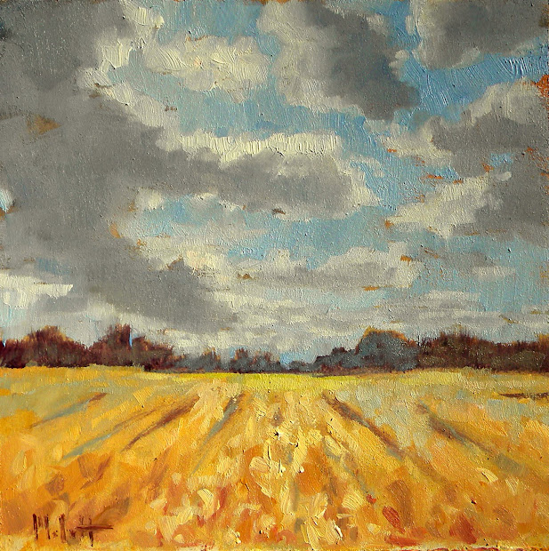 Art Painting And Prints Heidi Malott Impressionism Autumn Fields Small Oil