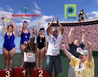 Special Olympics Atlanta recognition award by digital artist Nancy Gershman