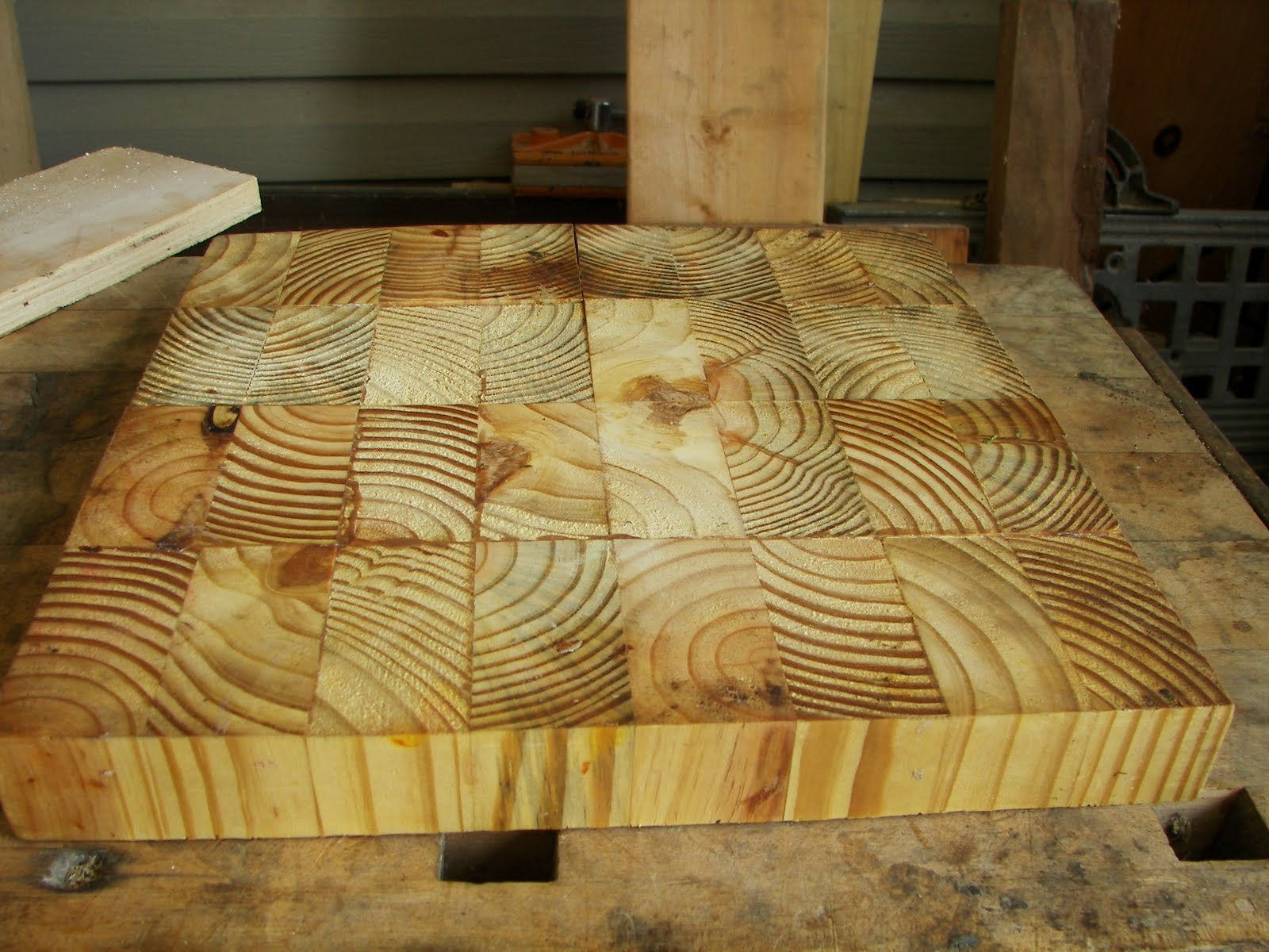 Sleepydog S Wood Shop Surfacing End Grain Cutting Broards