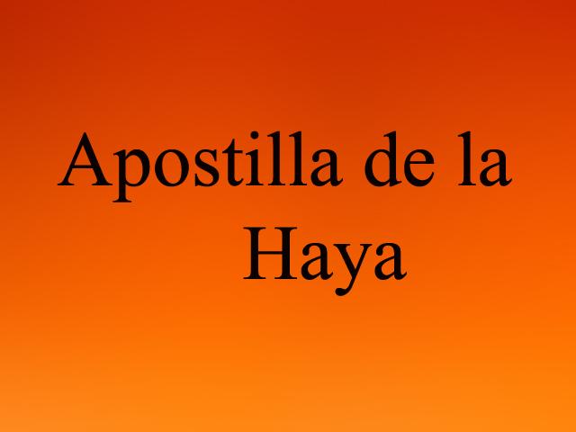 Apostilla de la Haya