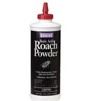 A bottle of roach powder.